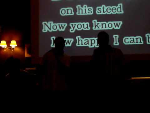 Ste & Nick Eccleston Arms Karaoke 2008 CCSF against Leeds