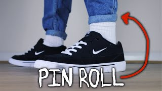 HOW TO PIN ROLL JEANS