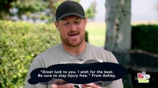 Jason Witten Reads Pep Talks from Young Cowboys Fans | NFL