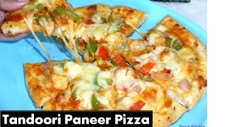 No Oven Tandoori Paneer Pizza In Tamil | Stove Top Pizza| Deepstamilkitchen Video Recipe