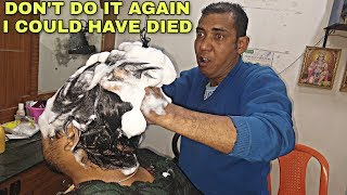 Download Amazing Shampoo massage with tingles   Indian barber Neck & hair cracking   ASMR Mp3 and Videos