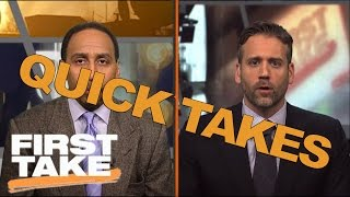 Quick Takes On Tony Romo, The Patriots And Tim Tebow | First Take | April 25, 2017 thumbnail