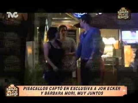 Pisacallos Captó a Jon Ecker y Bárbara Mori, Muy Juntos ...