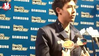 [Fancam]111005 Nichkhun Thai press Interview1