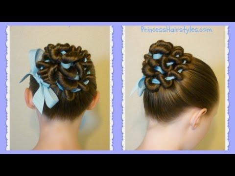 ribbon-coiled-bun-hairstyle-tutorial