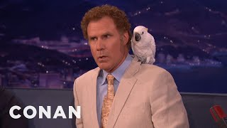 Don't Ask Will Ferrell About Professor Feathers  - CONAN on TBS thumbnail