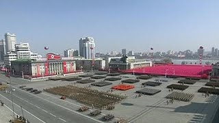 North Korea stages military might on eve of Winter Olympics