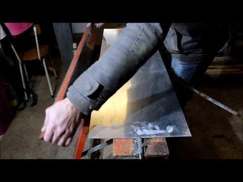 fabrication des faitages en zinc