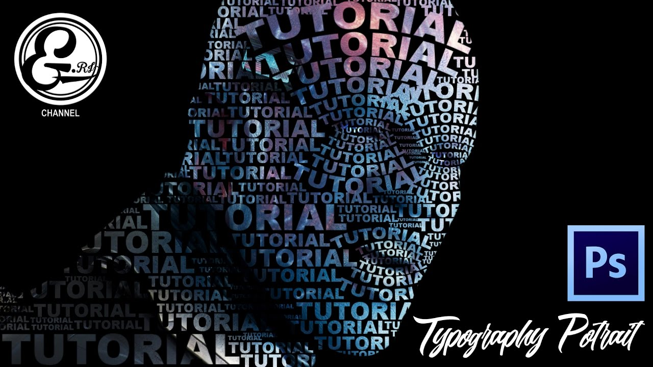 Tutorial photoshop make easy typography portrait Typography portrait
