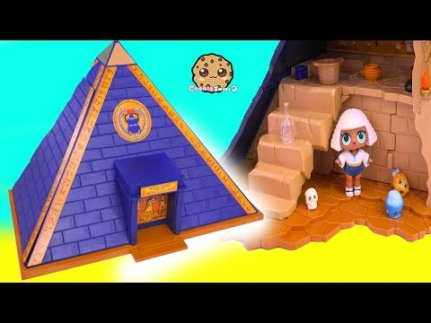 LOL Surprise Doll Explores Playmobile Egypt Pyramid - Toy Video