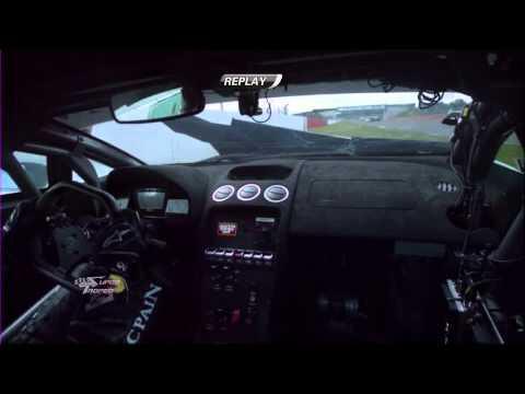 Adrian Newey crashes his Lamborghini Super Trofeo - 2013 Silverstone