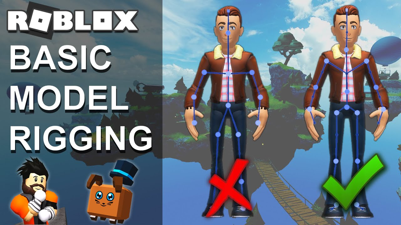 Roblox Basic Model Rigging Tutorial Roblox Studio Youtube