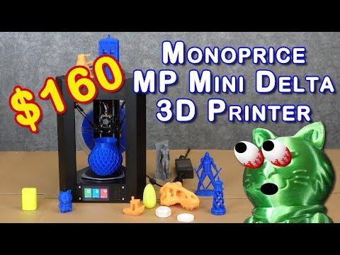 Monoprice MP Mini Delta Review - BEST INEXPENSIVE 3D PRINTER?