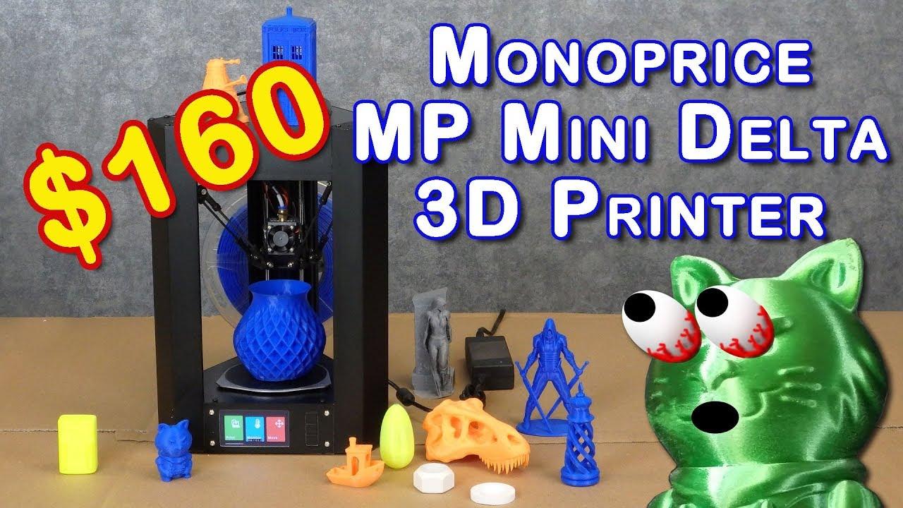 monoprice mp mini delta review best inexpensive 3d printer youtube