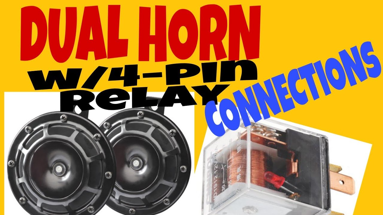 Dual Horn W   Relay Connection  Actual