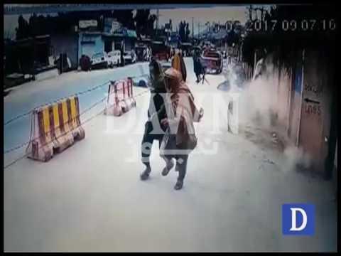 Suicide Attack in  - CCTV footage