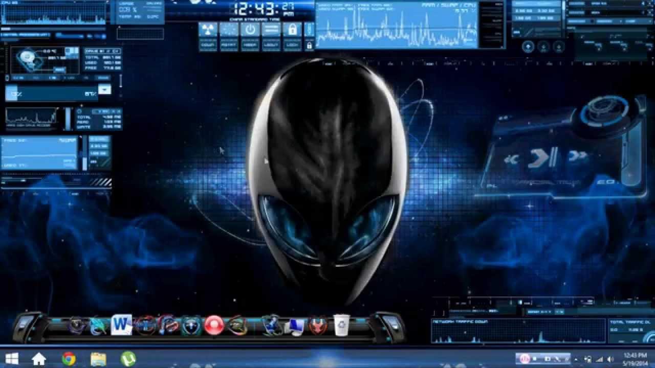 Windows 8 ''Blue Alien Theme'' Tutorial - YouTube