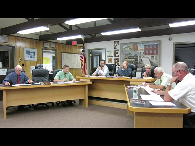 Peru Town Board Meeting  9-23-19