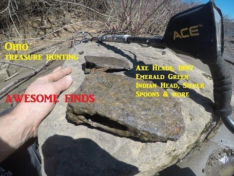 Ohio Treasure Hunting Metal Detecting THE RIVER & WOODS