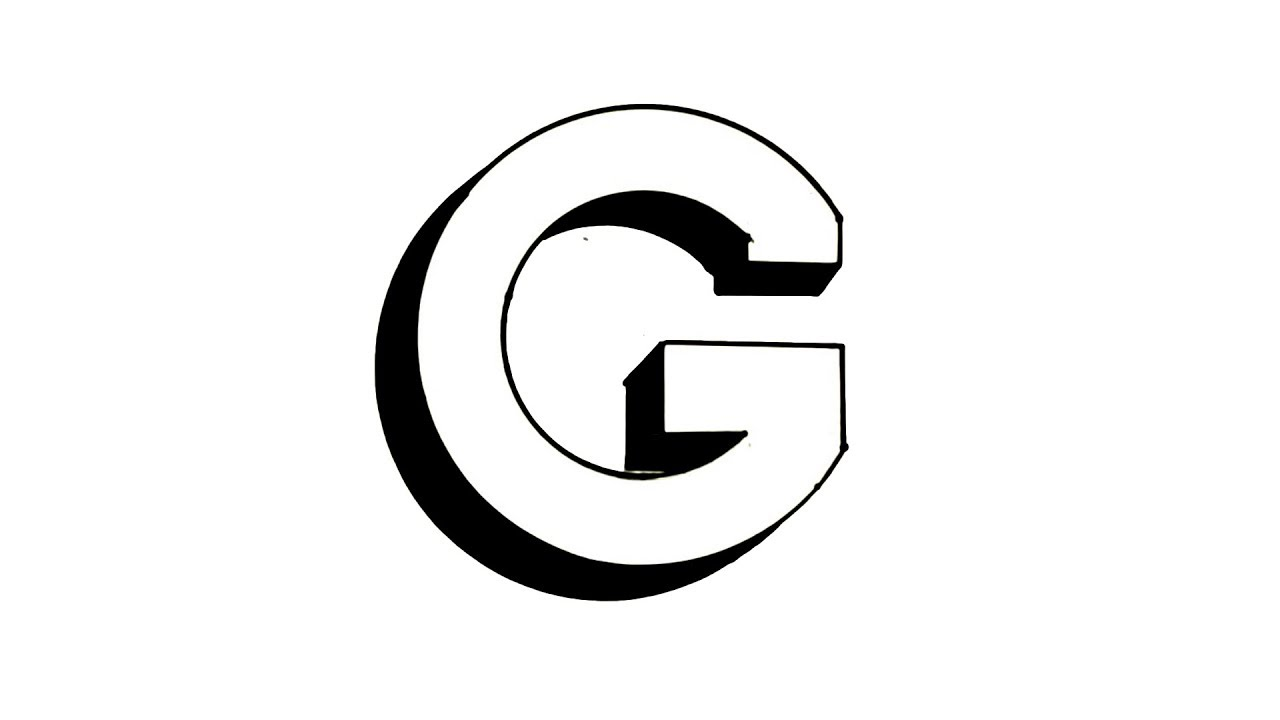 how to draw the letter g in 3d