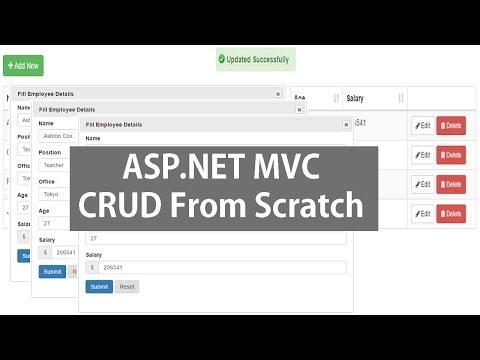 Asp.Net MVC CRUD Operations Using Datatable