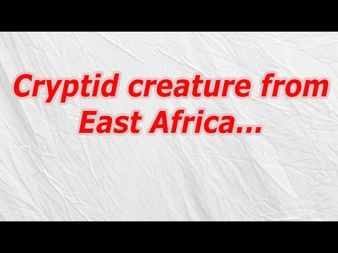 Cryptid creature from East Africa (CodyCross Crossword