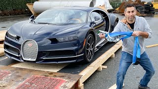 Meet My New 1500HP Bugatti Chiron Sport! *UNBOXING HYPERCAR*  Part 1 - The Delivery