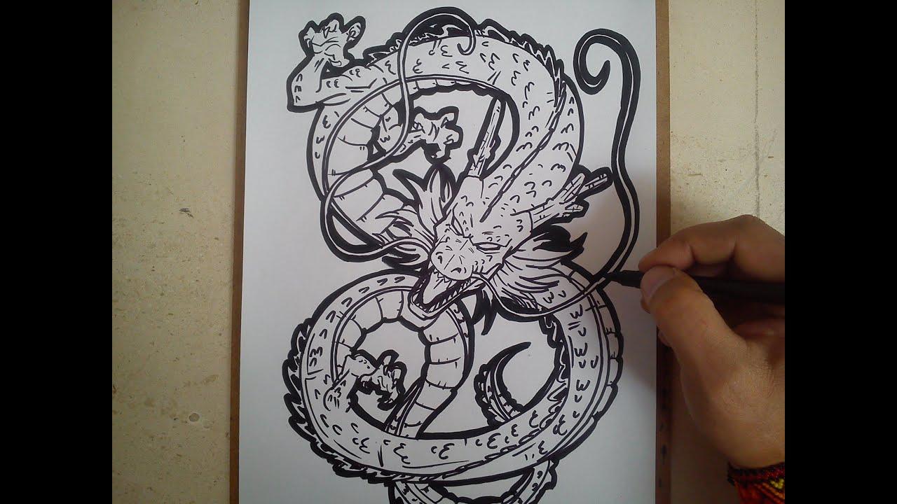 Como dibujar a shen long de dragon ball z how to draw a for Eight ball tattoo removal