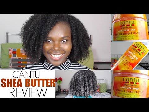 CANTU Shea Butter Products   REVIEW and Demo (Natural Hair)