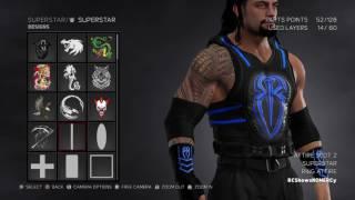 WWE 2K17 Roman Reigns 2017 Updated Wrist Bands logo Blue Design Attire
