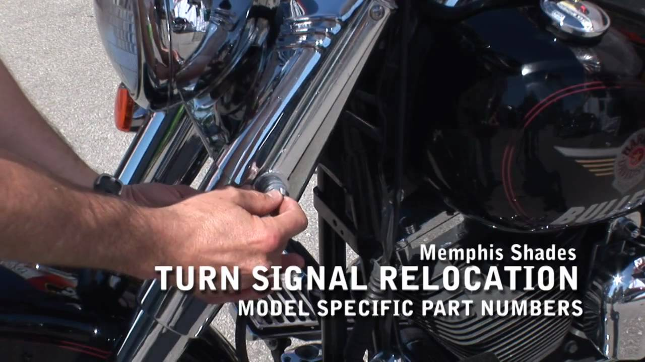 memphis shades turn signal relocation with j u0026p cycles