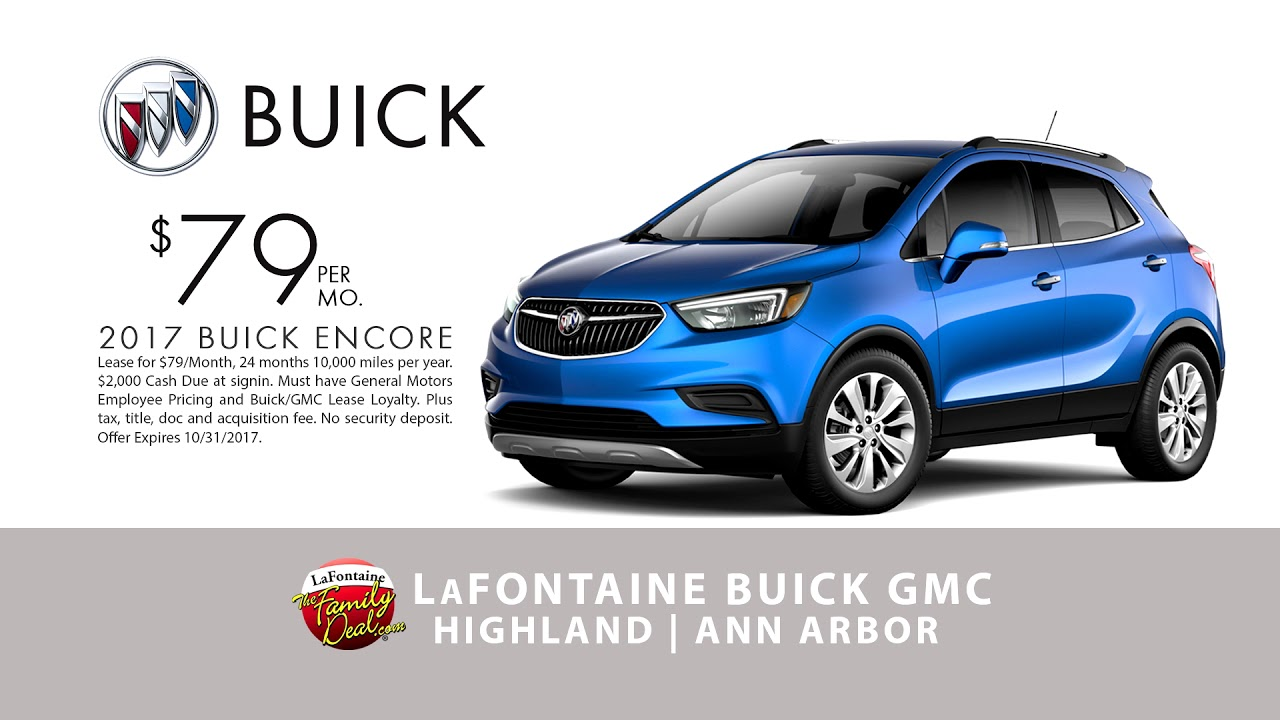 Lafontaine Cadillac Buick Gmc Of Highland 2017 Encore 79 Per Month