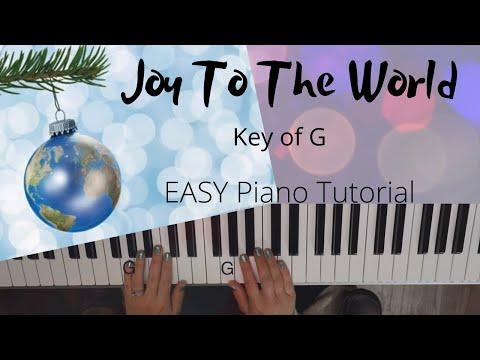 Joy To The World (Key of G)//EASY Piano Tutorial thumbnail
