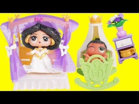 LOL Surprise Dolls Princess Jasmine in New Playmobil Custom Bedroom | Toy Egg Videos