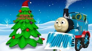 Happy Winter Toy Factory Cartoon for Kids - Choo Choo Toy Train Cartoon Show