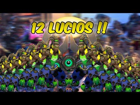 """Overwatch - """"LET'S BREAK IT DOWN!"""" - 12 LUCIOS!!"""