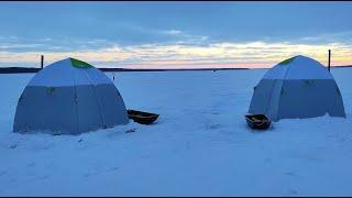 Рыбалка на Вилейском водохранилище Двое суток на льду Зимняя рыбалка с ночёвкой