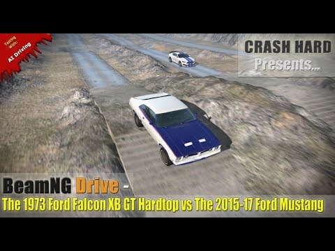BeamNG Drive - The 1973 Ford Falcon XB GT Hardtop vs The 2015-17 Ford Mustang