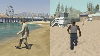 GTA 5 VS GTA San Andreas | COMPARISON