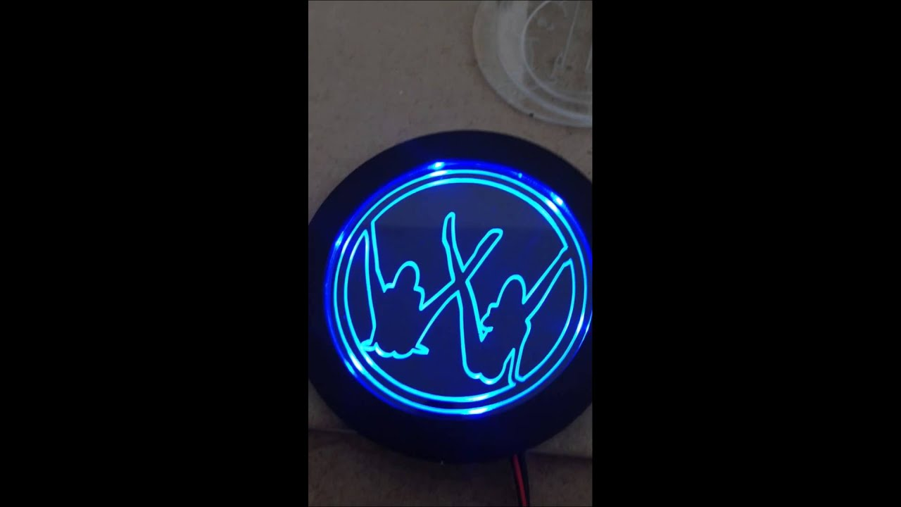 vw t4 grill badge light up glowing youtube