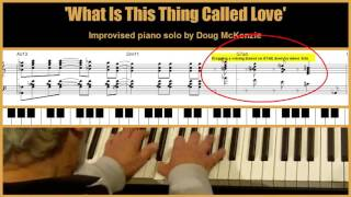 What Is This Thing Called Love - jazz piano tutorial