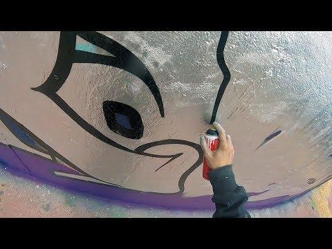 Graffiti - Rake43 - Silver Chrome & Black