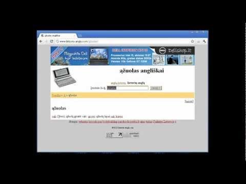lietuviu anglu žodynas naudojimosi instrukcija