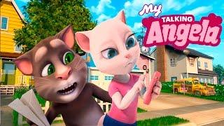 МОЯ ГОВОРЯЩАЯ КОШКА АНДЖЕЛА #20 МОЙ ГОВОРЯЩИЙ ТОМ И АНДЖЕЛА ДРУЗЬЯ - мультик игра видео для детей