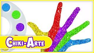 Vamos a Aprender con Pintura Glitter de Colores para Manos | Los Juguetes Son Divertidos
