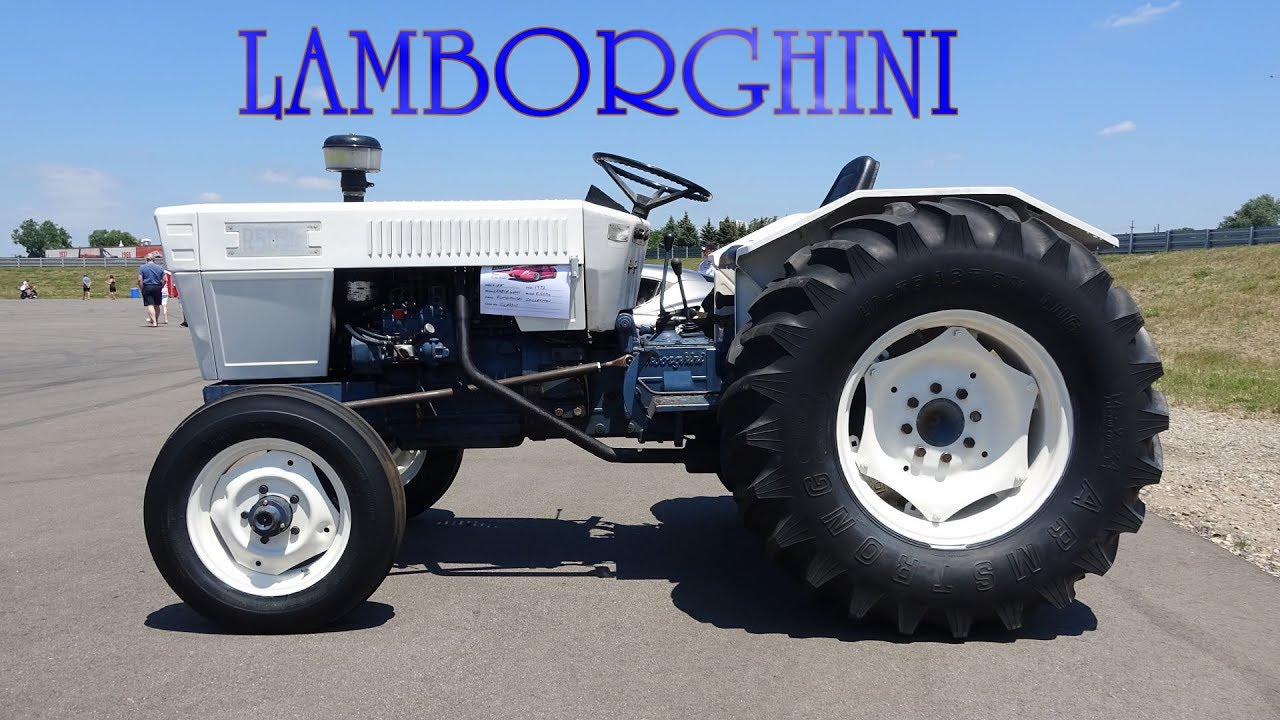 Lamborghini Tractor Driving Around