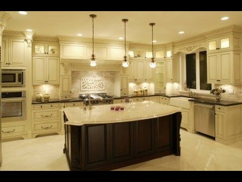 off white kitchen cabinets - YouTube
