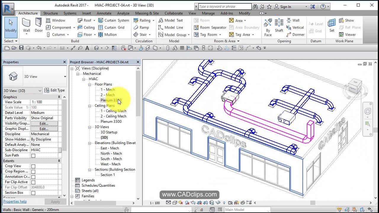 revit hvac project 05 return air ducts system color overrides [ 1280 x 720 Pixel ]