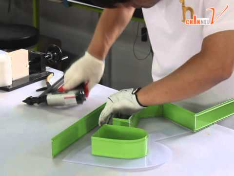 """Channel Letter bending machine """"onebody profile"""" Maiking video"""