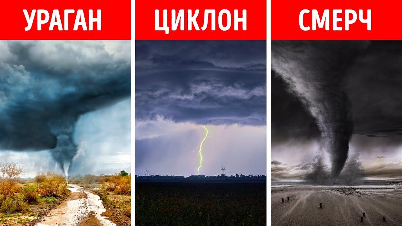 Ураган, смерч, циклон – в чем разница?